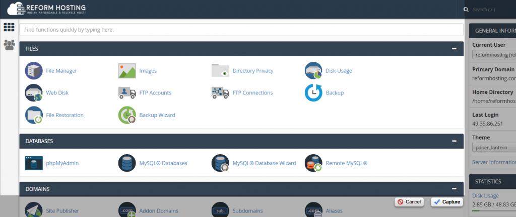 cpanel-account-dashboard