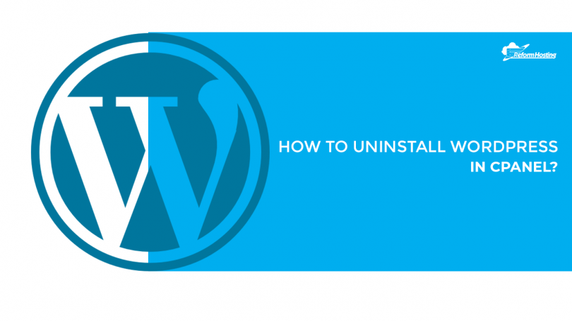 how-to-uninstall-wordpress-in-cpanel