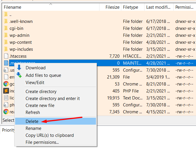 remove-maintenance-file